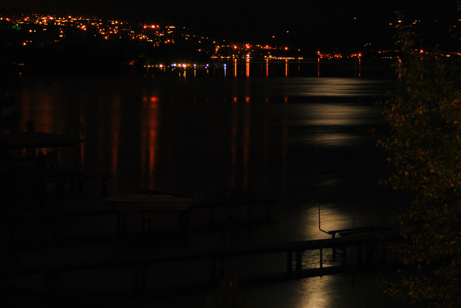 Moonlight on the water South Kelowna, British Columbia Canada
