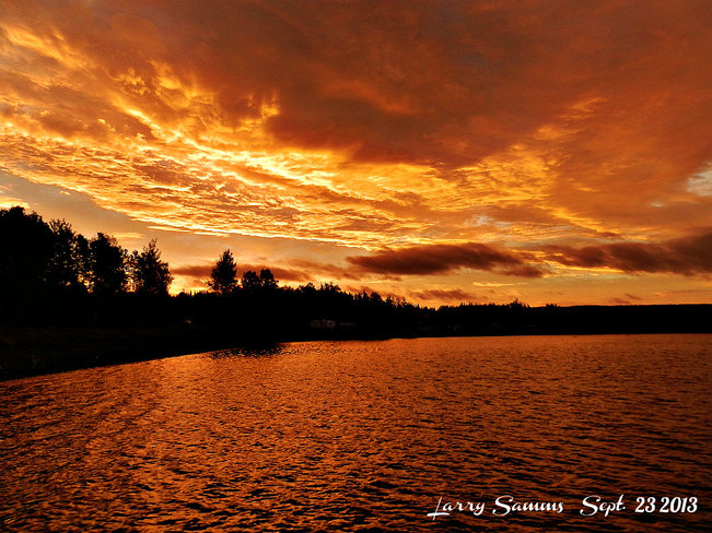 Sunrise at West Pond Springdale, Newfoundland and Labrador Canada