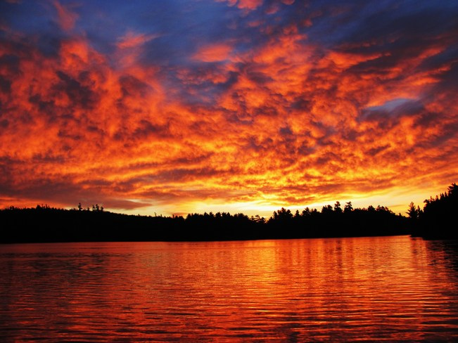 Sunrise on Toosee Lake Elliot Lake, Ontario Canada