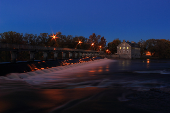"Le Moulin 'by night"" Terrebonne, Quebec Canada"