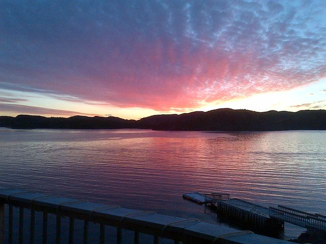 Sunset overlooking western Arm, Triton Triton, Newfoundland and Labrador Canada