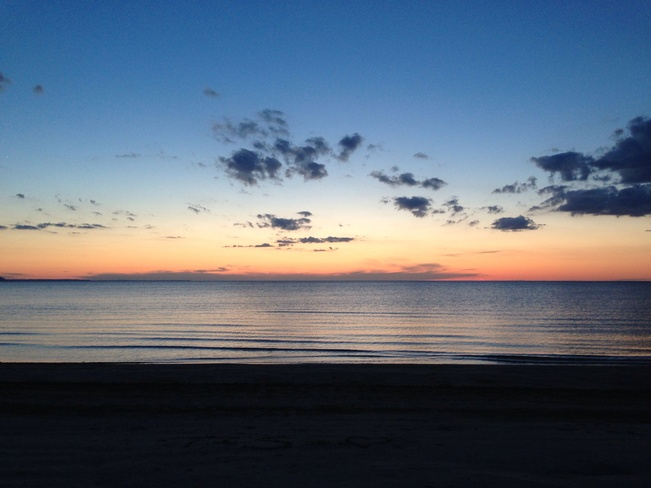 sunset Wasaga Beach, Ontario Canada