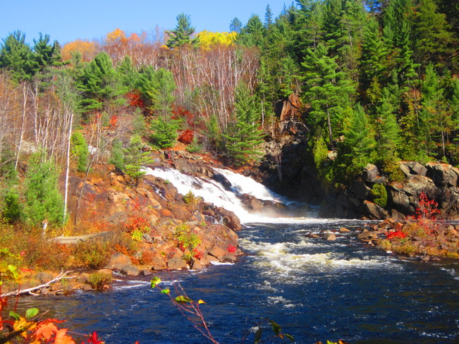 Beautiful fall day Onaping Falls, Ontario Canada