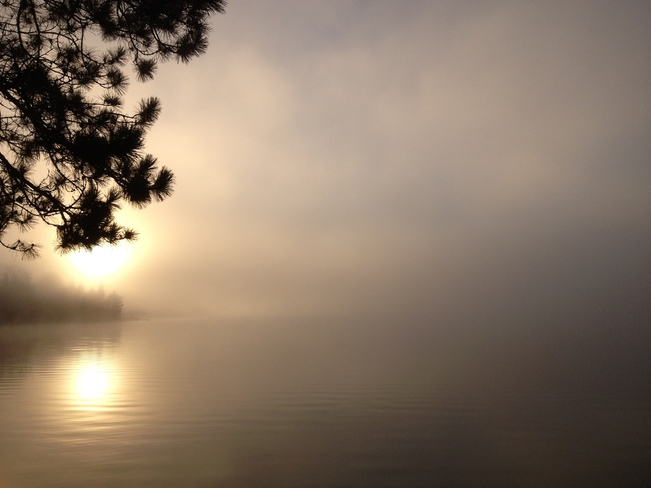 Misty Sunrise over Round Lake