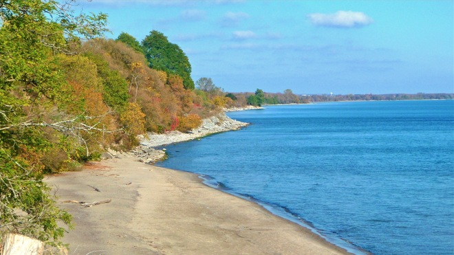 Fall Colours at the Beach Port Hope, Ontario Canada