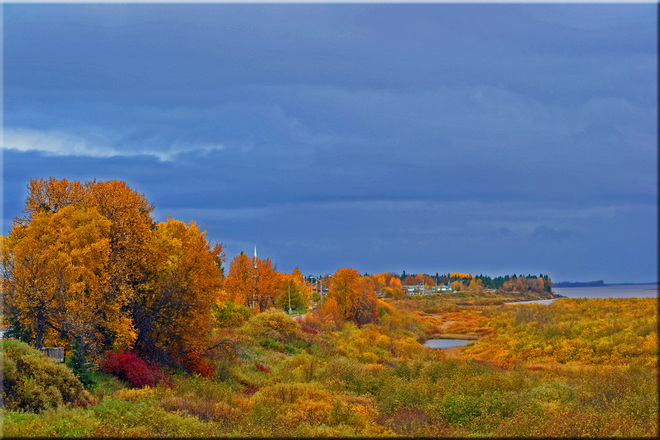 Fall Time in the Moose Moose Factory, Ontario Canada