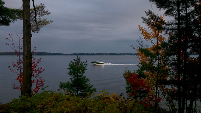 Crusing the watersin Muskoka Minett, Ontario Canada
