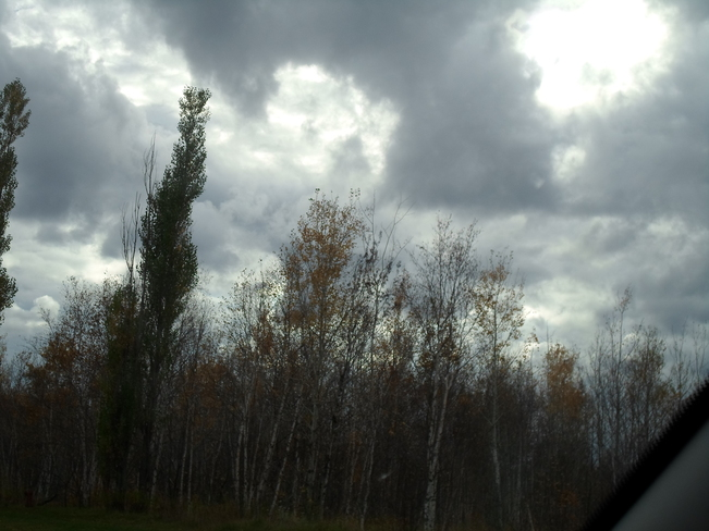 Dark clouds in Elliot Lake today Elliot Lake, Ontario Canada