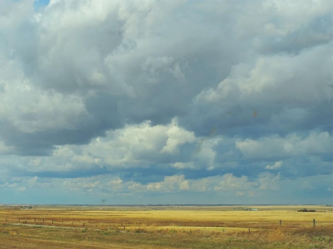 Breakup of Prairie Cloud Cover Lethbridge, Alberta Canada