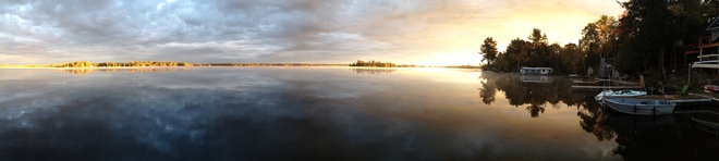Panorama of Stoney Lake Lakefield, Ontario Canada