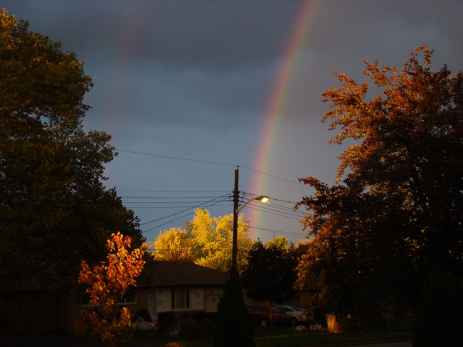 Rainbow over West London London, Ontario Canada