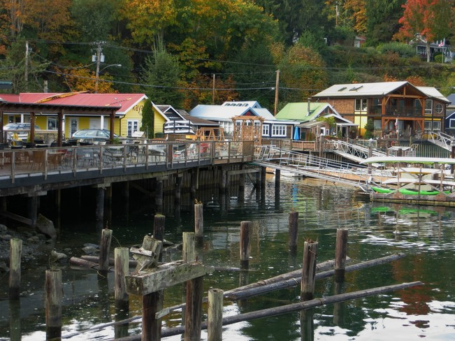 Busy reflections Cowichan Bay, British Columbia Canada