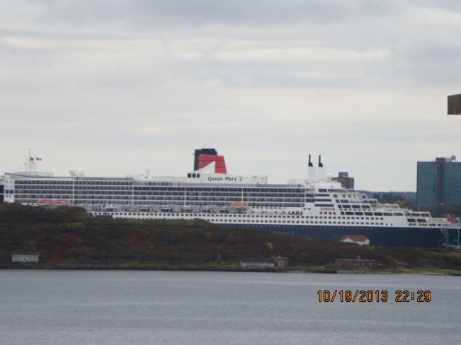watching the Queen Mary 2 Halifax, Nova Scotia Canada