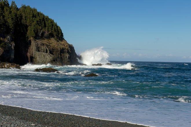 Waves at Outer Cove Torbay, Newfoundland and Labrador Canada