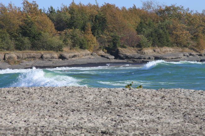 Point Petrie sun, sand, stone, surf and solitude Picton, Ontario Canada