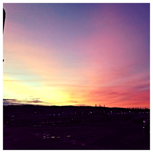 sunrise Fort McMurray, Alberta Canada