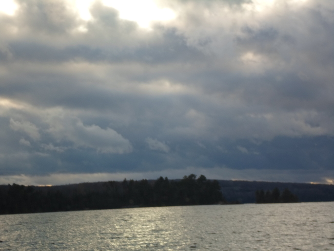 Storm clouds coming in over E.L Elliot Lake, Ontario Canada