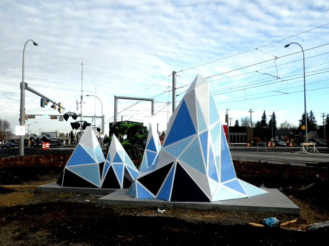 new sculptures at Kingsway Edmonton, Alberta Canada