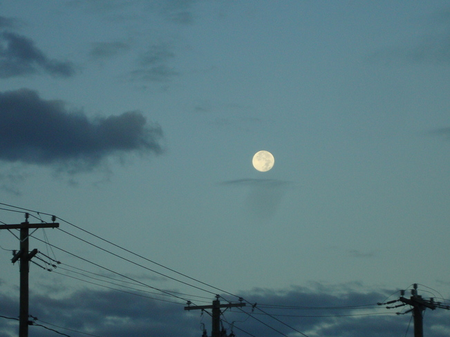 Moon in the Morning Richibucto Road, New Brunswick Canada