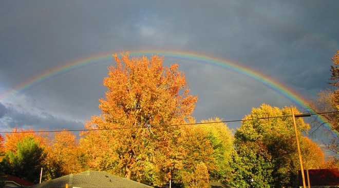 Colourful Rainbow ! Crystal Beach, Ontario Canada