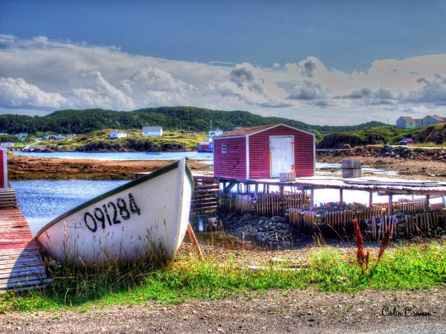 Boat and stage Twillingate, Newfoundland and Labrador Canada