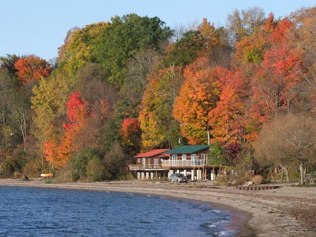 Glorious fall colours of Norfolk Port Ryerse, Ontario Canada