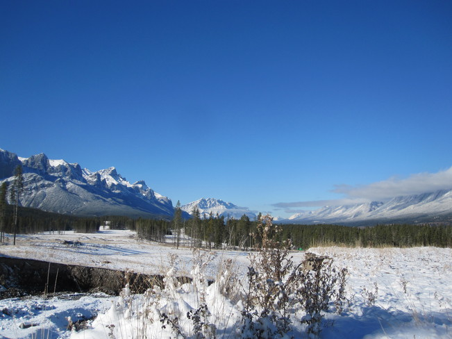 First snow in Canmore Canmore, Alberta Canada