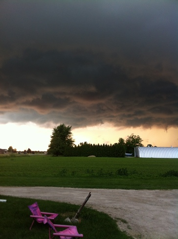 Storm clouds South Woodslee, Ontario Canada