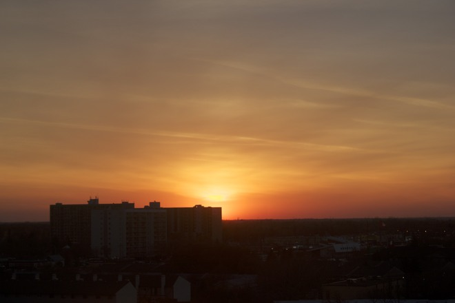 Sunset from the 8th floor Winnipeg, Manitoba Canada