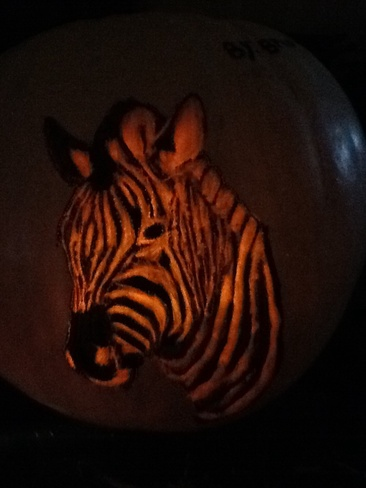 Pumpkin carving by brooke 10 years old Stoney Creek, Ontario Canada