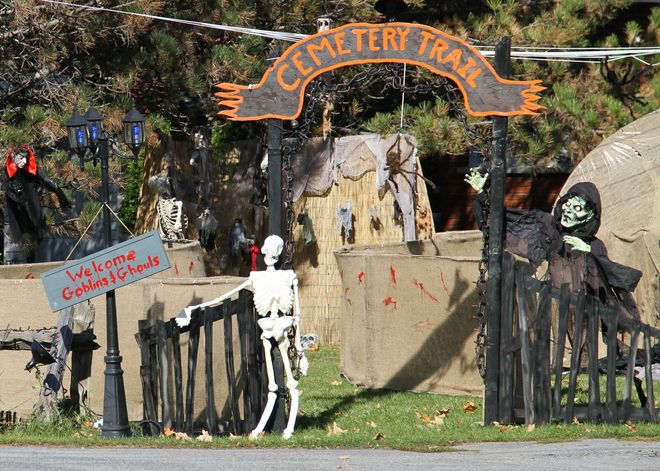 Brighton Halloween Display 1 Brighton, Ontario Canada