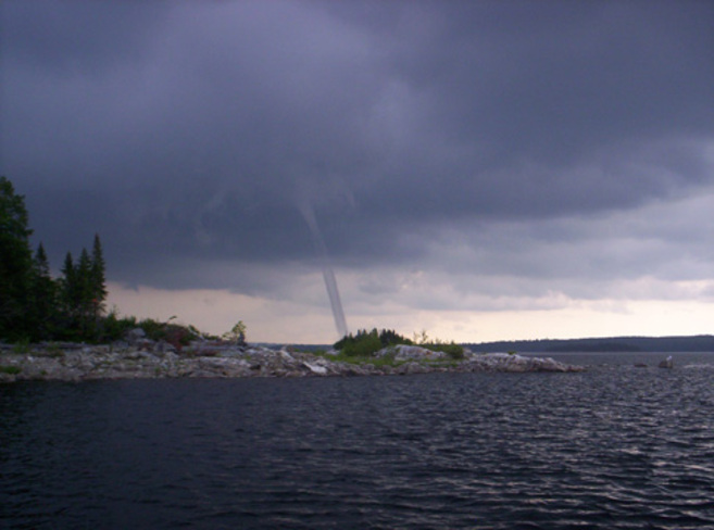 Water spout Val-d'Or, Quebec Canada
