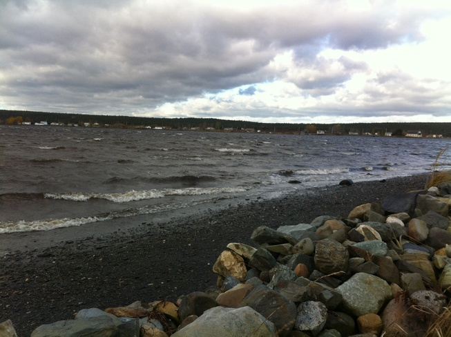 Windy, windy, windy. Gander, Newfoundland and Labrador Canada