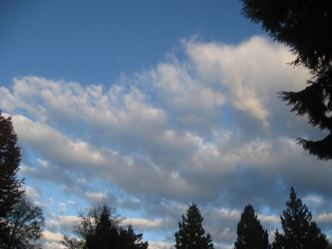 white clouds Surrey, British Columbia Canada