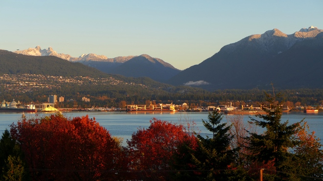 Fresh Snow on the Mountains Vancouver, British Columbia Canada