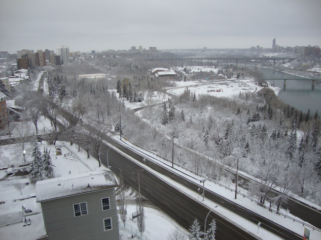 Snow on the River Valley Edmonton, Alberta Canada
