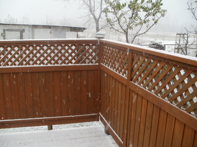 SNOW 6 MINS . LATER FROM LAST PIC. Terrace, British Columbia Canada