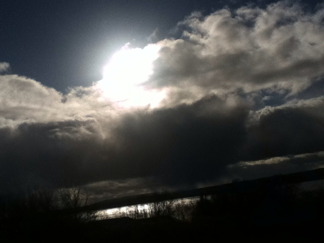 Sun and rain and flurries Sydney, Nova Scotia Canada