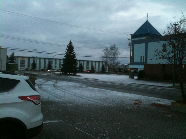 1st sign of snow Prince George, British Columbia Canada