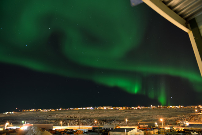 Northern lights above Iqaluit