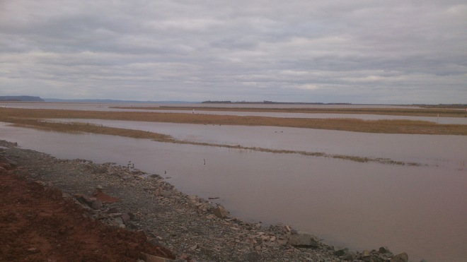 The New Dyke Height looking at Blomidon Wolfville, Nova Scotia Canada