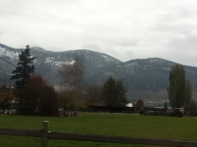 dusting in the hills South Vernon, British Columbia Canada
