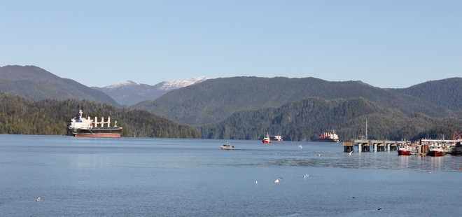 Clear and blue skies over the ocean... Prince Rupert, British Columbia Canada