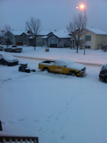 overnight snow and still coming Grande Prairie, Alberta Canada