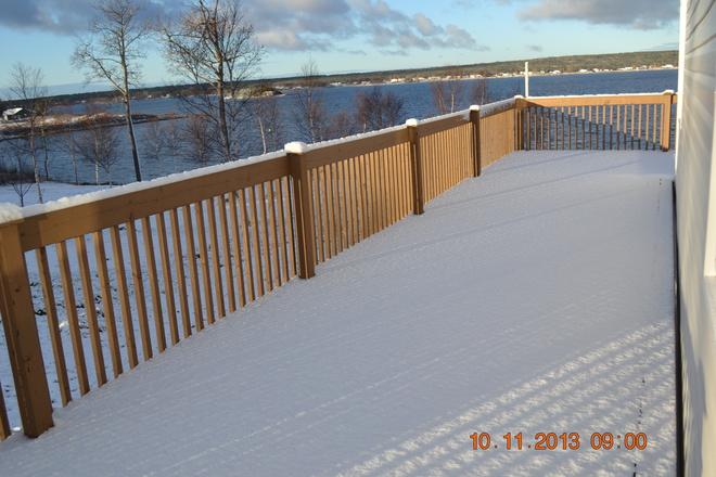1st snow Birchy Bay, Newfoundland and Labrador Canada