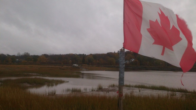 Thank You for the Canadian Flag Wolfville, Nova Scotia Canada