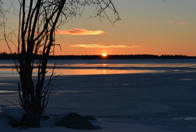 Beautiful Sunset La Ronge, Saskatchewan Canada