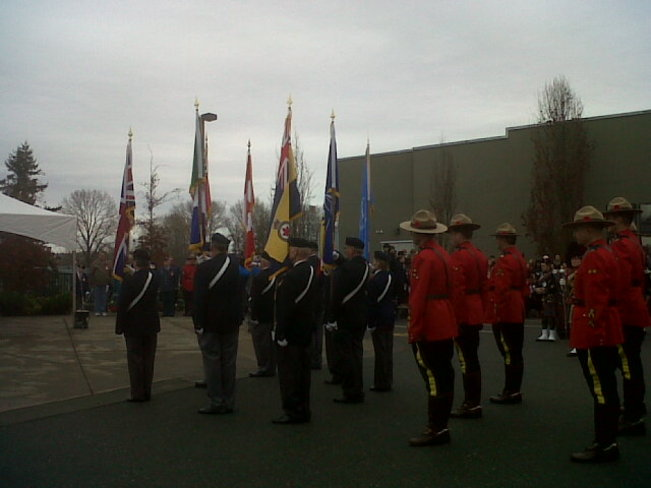 Another Courtenay remembrance day 2013. Courtenay, British Columbia Canada