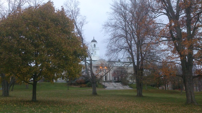 Acadia University, Wolfville Warm Fall Colours Wolfville, Nova Scotia Canada