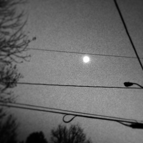 Moon in the nightsky Lincoln, New Brunswick Canada